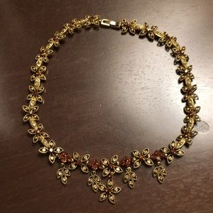 🍓 beautiful flower choker necklace Chrystal 🍓